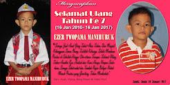 Selamat Ulang Tahun Ke 7 Ezer Twopama & Rodo Timbul HJ Saragih Manihuruk