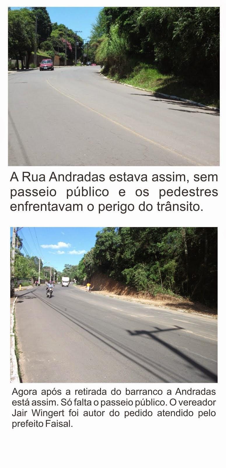 BARRANCO DA ANDRADAS É REMOVIDO