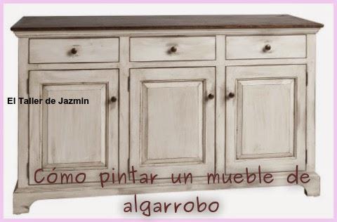 C mo pintar un mueble de algarrobo - Muebles antiguos pintados de blanco ...