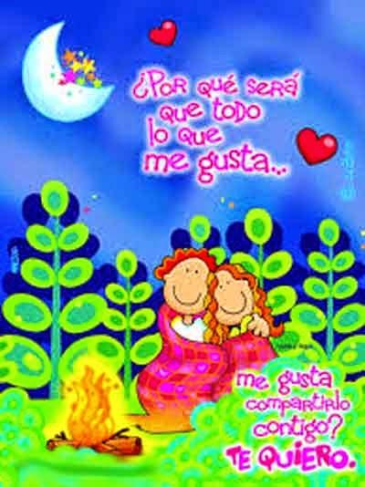 Espero volver a tu lado, estar junto a ti es lo mejor - te amo, imagenes con mensajes de amor