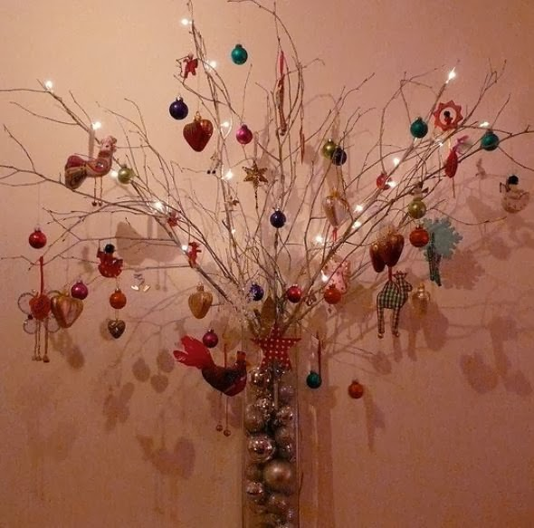 The art of up cycling homemade christmas ornaments for Homemade tree decorations