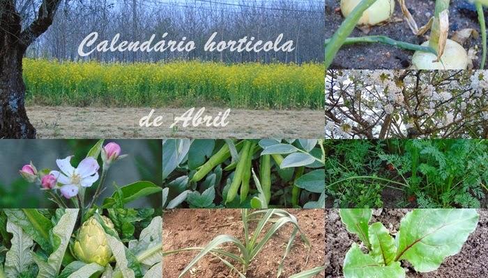 Calendário hortícola de Abril