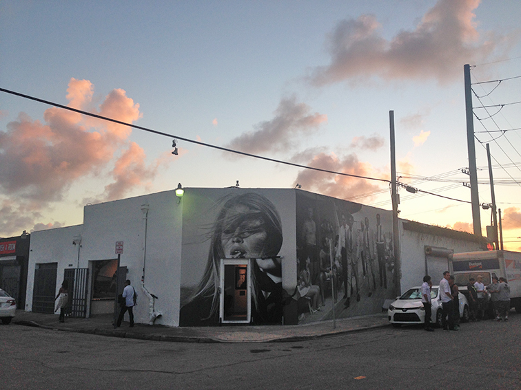 Fashion Over Reason in Miami, Art Basel 2014, Terry O'neill photography gallery, Brigitte Bardot lifesize street art, Wynwood, Miami