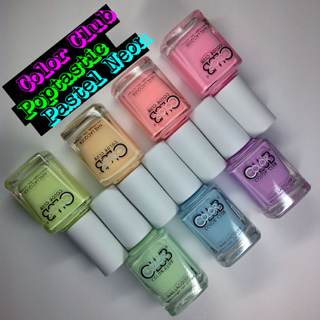 Color Club Poptastic Pastel Neon Collection Swatch Review Spring 2015