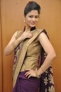 Shilpa Chakravarthy in Spicy Designer Purple Saree
