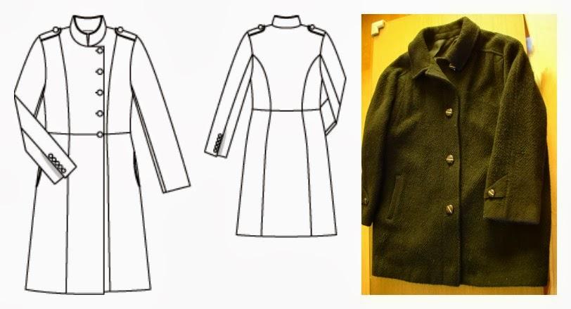 Reciclando un abrigo ~ Moda en la Costura