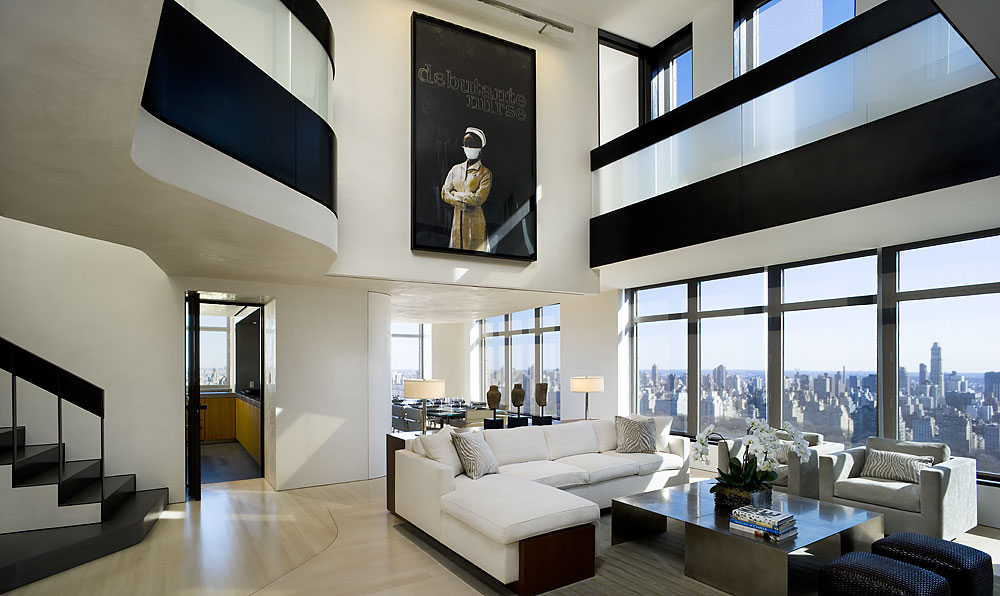 Modern cabinet central park west penthouse duplex for Penthouses for sale in nyc
