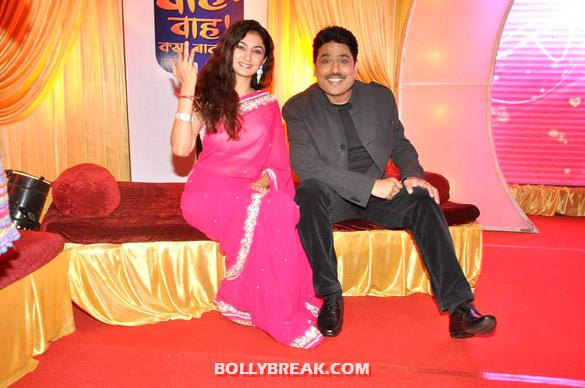 Shailesh Lodha and Waah Waah Kya Baat Hai actress in pink saree - (3) - SAB TV launches 'Waah Waah Kya Baat Hai' show