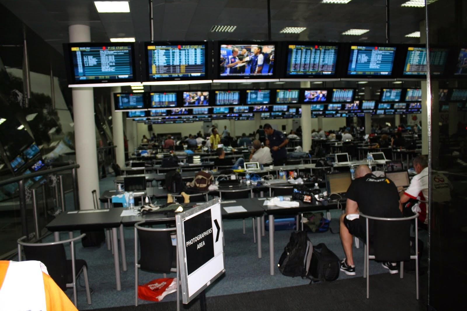 sala de prensa del circuito de sepang