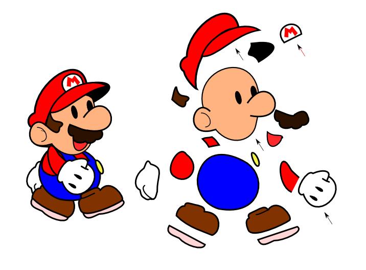 Patr  N De Fieltro De Mario Bros Para Imprimir