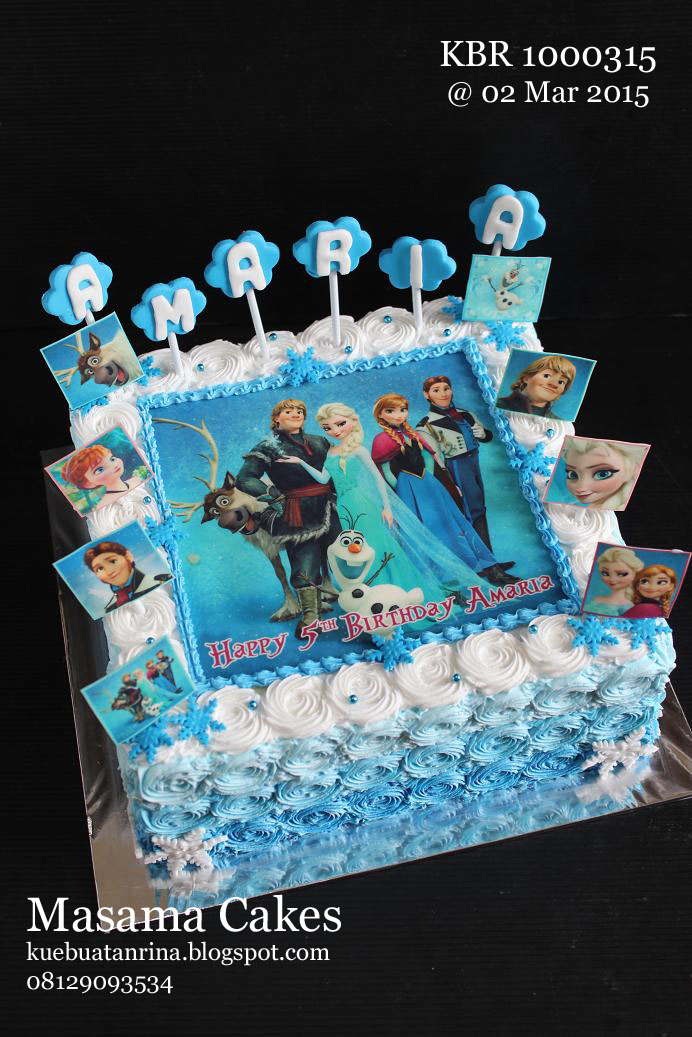 masama cakes frozen birthday cake with edible for amaria on frozen birthday cake edible image