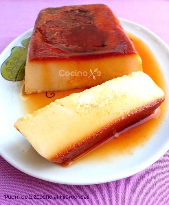 Cocinax2 las recetas de laurita pudin de bizcocho f cil en el microondas - Bizcocho microondas isasaweis ...