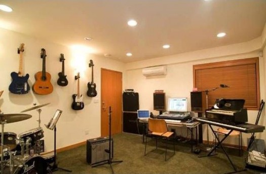 home music studio design ideas via