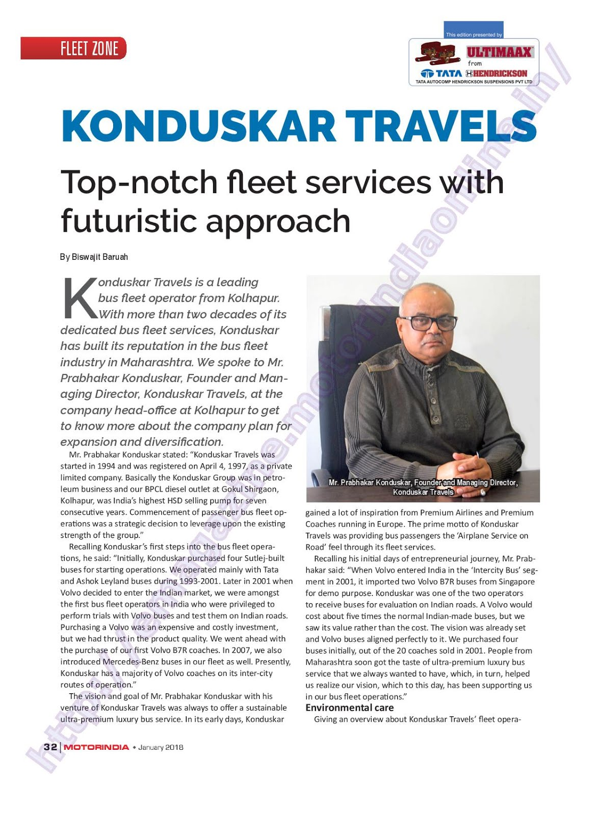 MOTOR INDIA ARTICLE 25 : KONDUSKAR TRAVELS