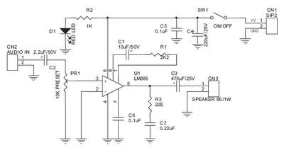 Watt Tiny Audio Amplifier Using LM386