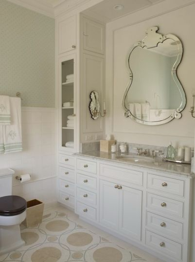 Hamptons Designer Powder Room
