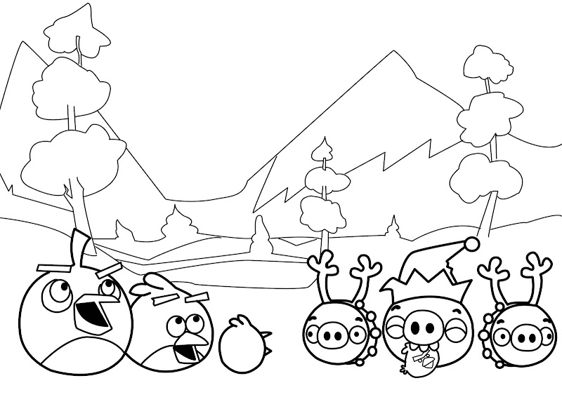 New Angry Birds Coloring Pages title=