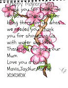 Happy Mothers Day. Happy Mothers Day Mum!! Thank you for everything you've .