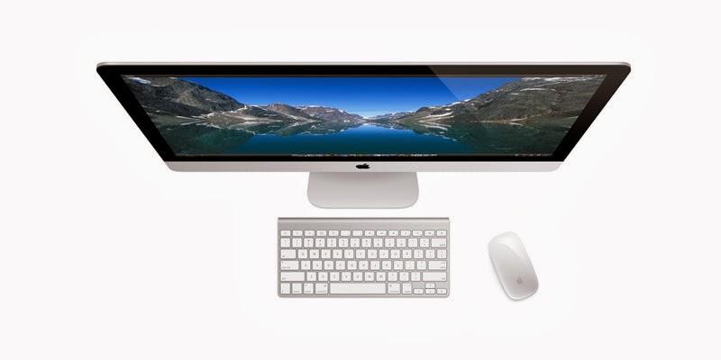 моноблок Apple iMac 27 ME089 вид сверху