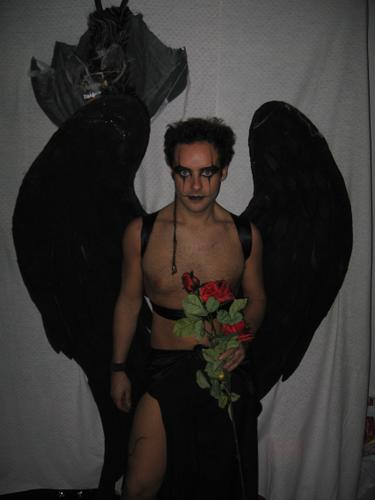 disfraz de angel caido