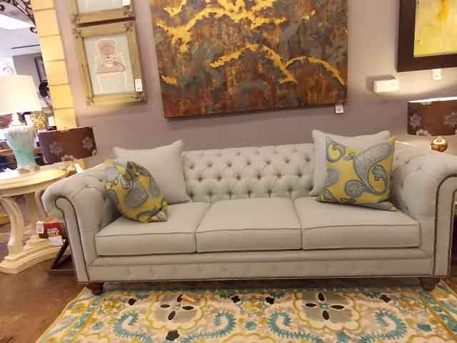 Superbe Chesterfield Sofa Upholster With Diamond Tuft Furniture Upholstery Los  Angeles