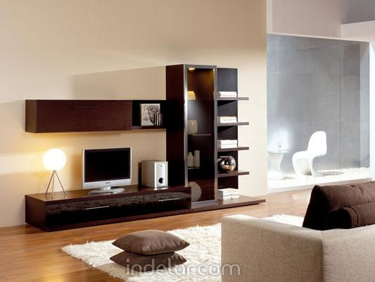 Muebles funcionales for Muebles de pared para living