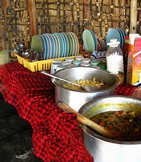 One-pot spicy Kivu fish stew unique flavor is due to the spices, vegetables and traditional maize meal.