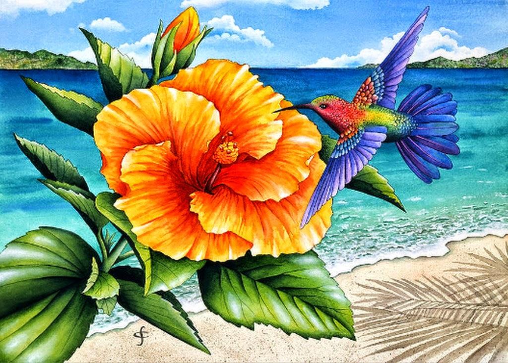 cuadros-con-flores-y-pajaros