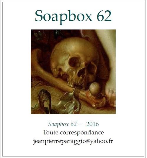 SOAPBOX 62, Feuillet de l'umbo, ART & POÉSIE, OCTOBRE 2016