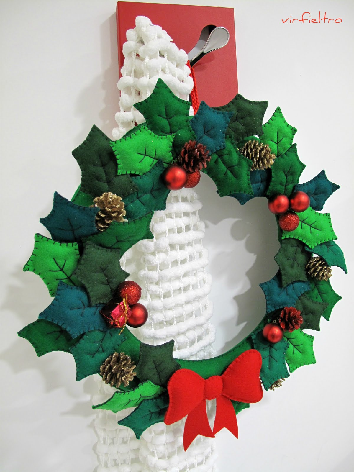 Ultimamente feliz a o 2012 y algunos adornos navide os en - Trabajos manuales navidenos ...