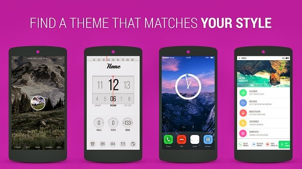 Themer Beta Android Launcher, transform the look