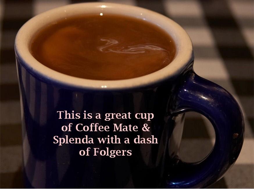 coffee with splenda and coffeemate