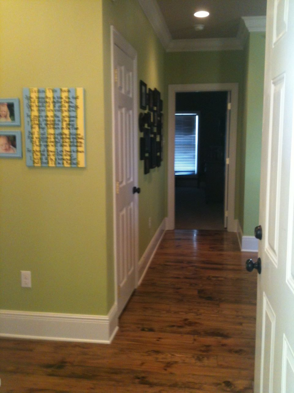 Cardigans crayons home tour back entry laundry room for Exterior utility room door