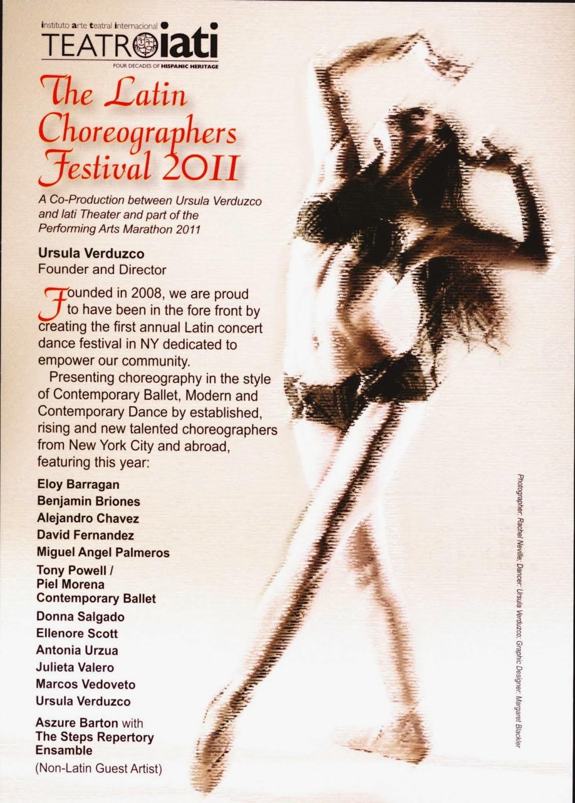 Latin Choreographers Festival