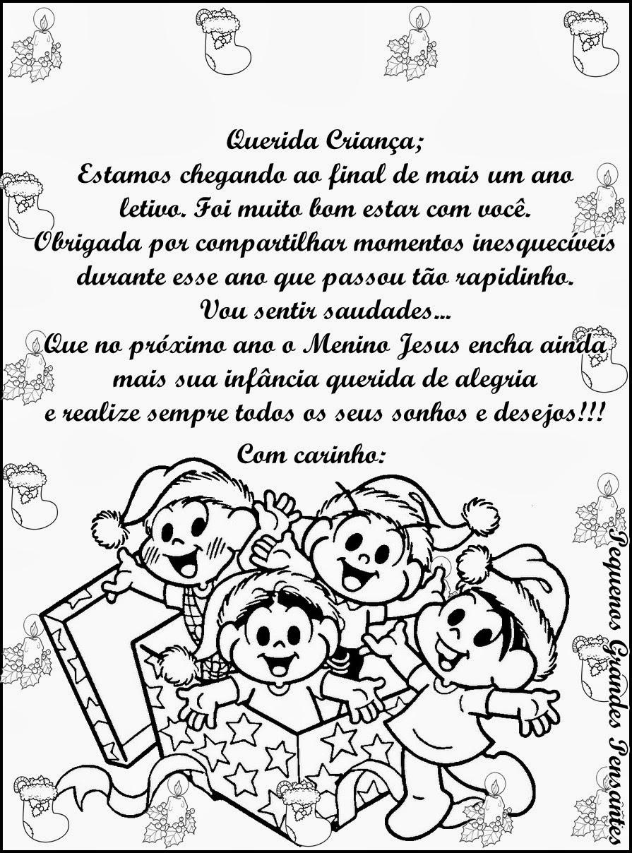 Populares Pequenos Grandes Pensantes.: Mensagem de Natal - Educação Infantil GN24