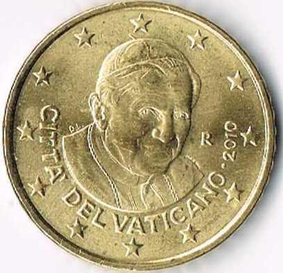 Betalegium 50 Euro Cent B16 Citta Del Vaticano 2010