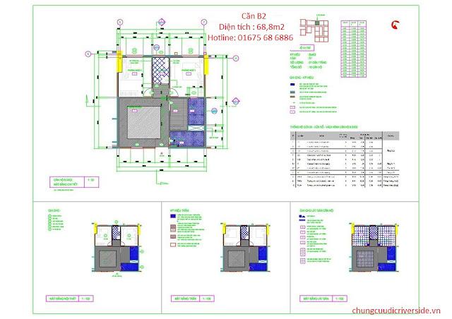 Thiết kế căn hộ B chung cư Udic Riverside