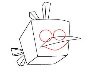 How To Draw Angry Birds Space Step 4