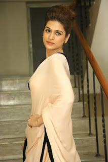 Shraddha Das Latest Pictures in Saree at tur Talkies Trailer Launch