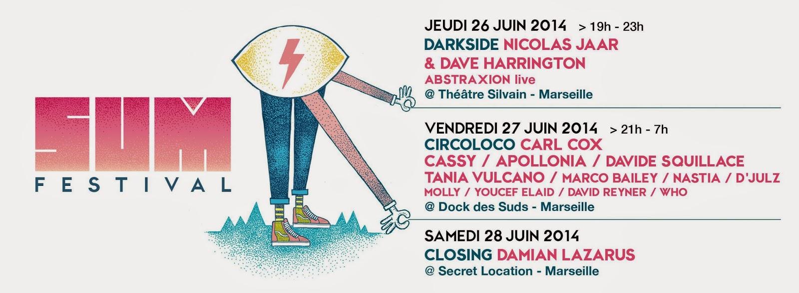 SUM Festival Marseille full lineup