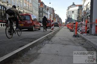 Kopenhagen, Gothersgade - Radwegebau