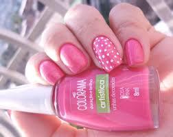 Decoração unhas cor rosa