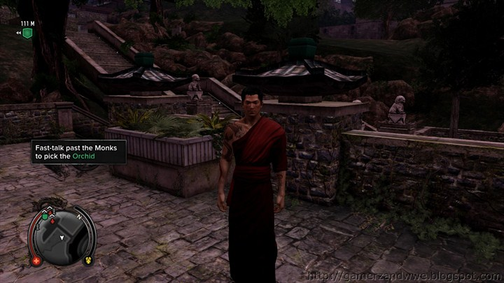 Wei Shen dressed up as a monk