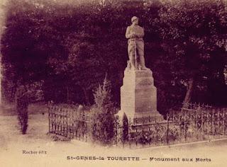 CPA monuments aux Morts du Puy-de-Dôme, Saint genès la Tourette