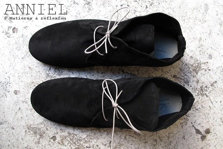 Desert boots daim noir Anniel homme