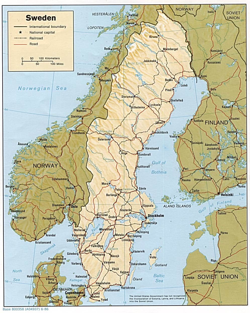 google maps europe: Map of Sweden Cities Pictures