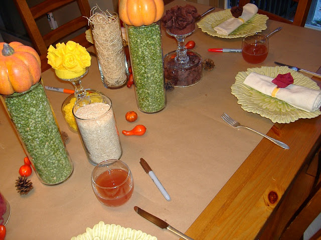 Thanksgving table centerpiece butcher paper