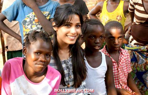 , Freida Pinto Visits Africa