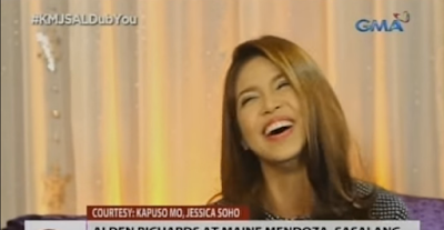 Maine Mendoza lets out a big laugh as she answered one of the questions