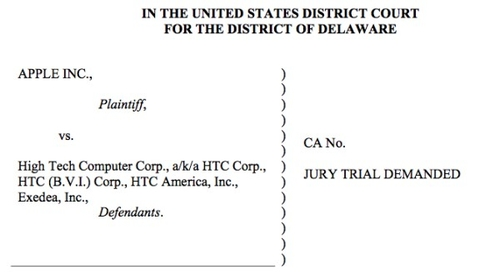 Apple HTC agreement